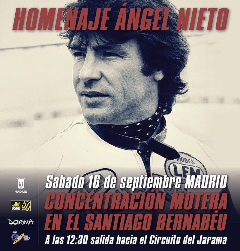 Cartel del Homenaje a Angel Nieto