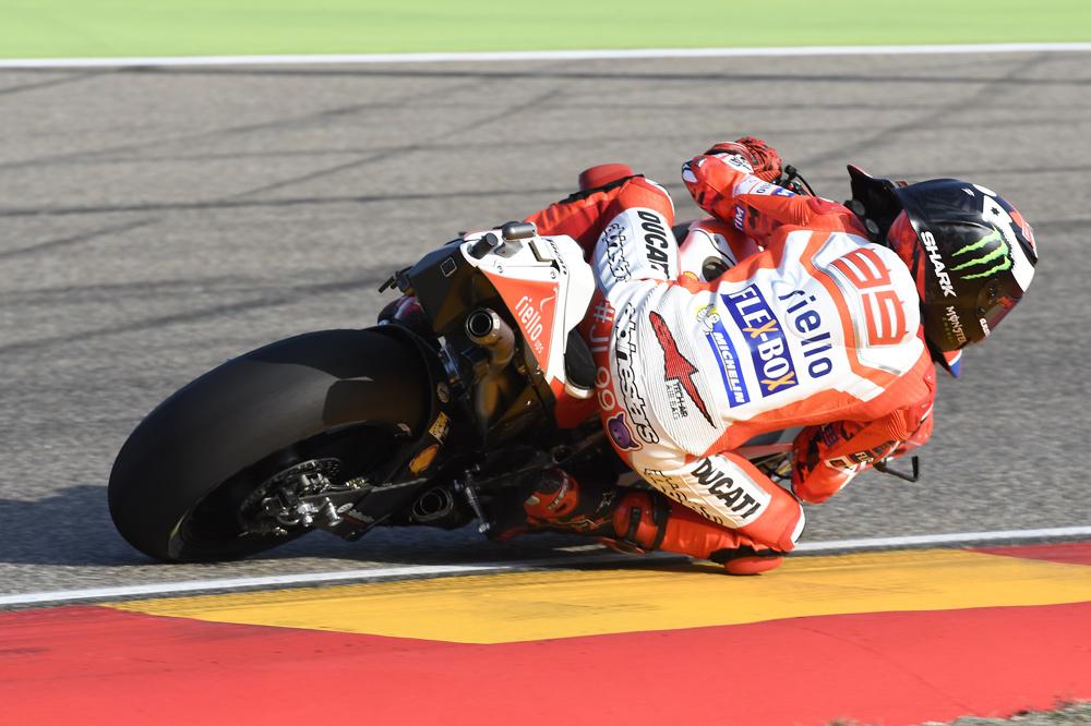 Tercer puesto de Jorge Lorenzo en el GP de Aragon