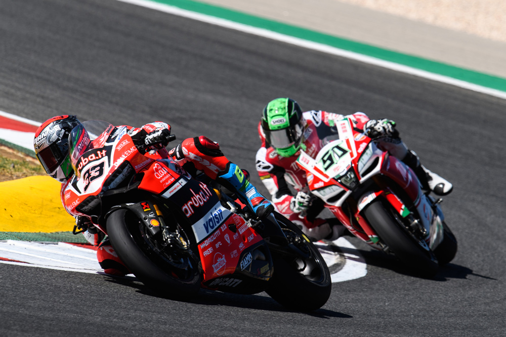 Marco Melandri hizo dos podios en SBK en Portugal