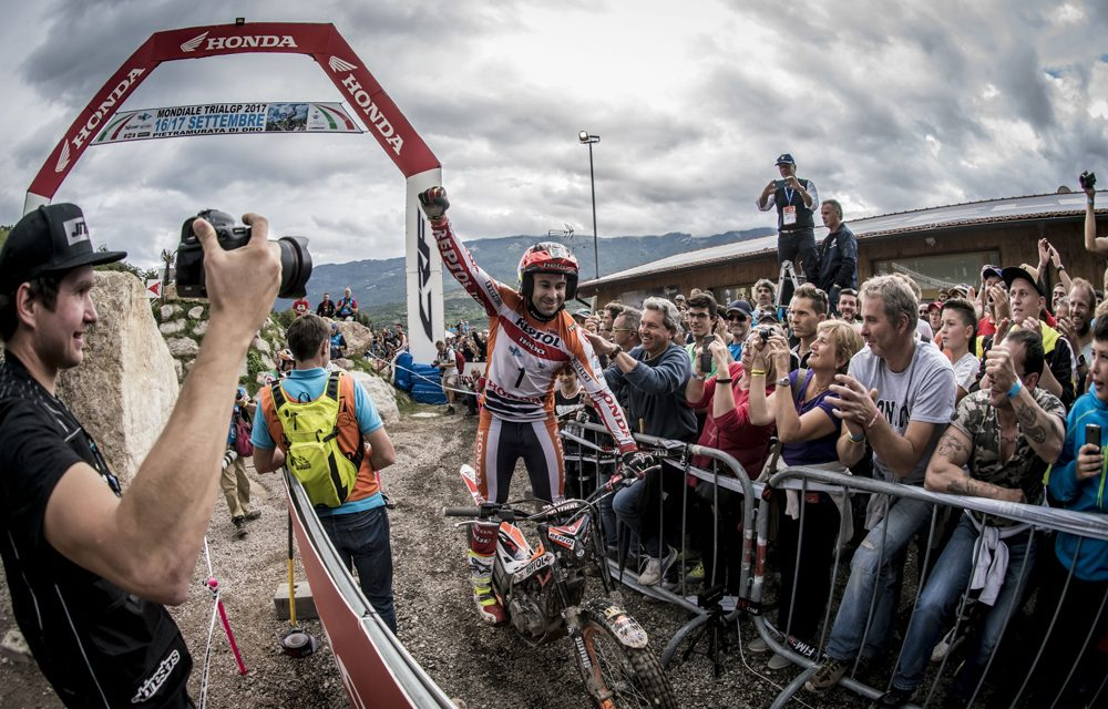 Toni Bou cierra la temporada de Trial 2017 con victoria en Italia
