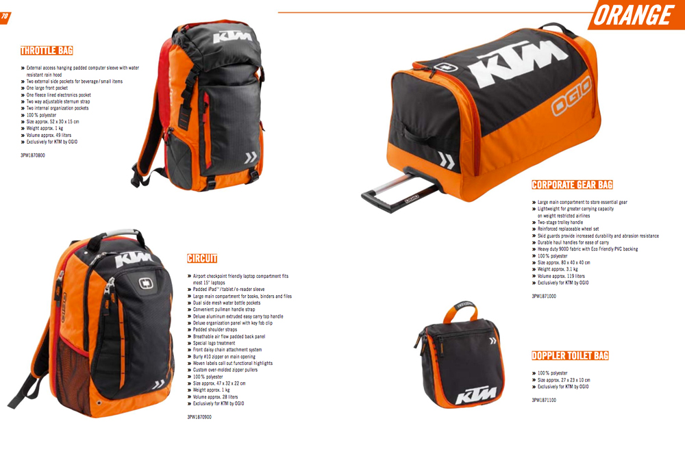 Colección Orange KTM 2018