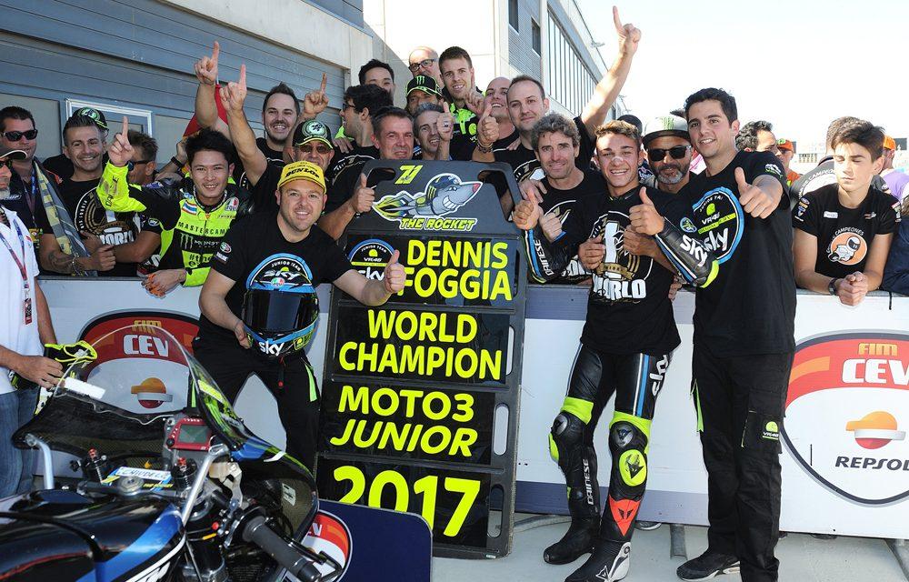FIM CEV Repsol: Dennis Foggia, Campeón del Mundo Junior Moto3