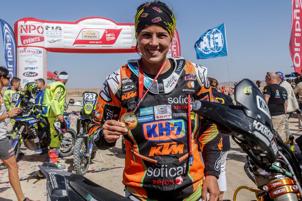 Laia Sanz ha sido octava en el Rally de Marruecos