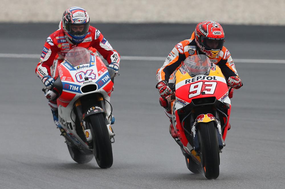 Marc Márquez y Andrea Dovicioso lucharán por el título en el GP de Valencia