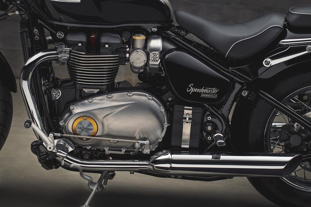 Triumph Bonneville Speedmaster 2018, detalle del motor