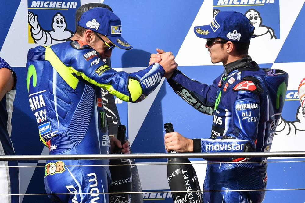 Valentino Rossi y Maverick Viñales fueron segundo y tercero en el GP de Austalia de MotoGP