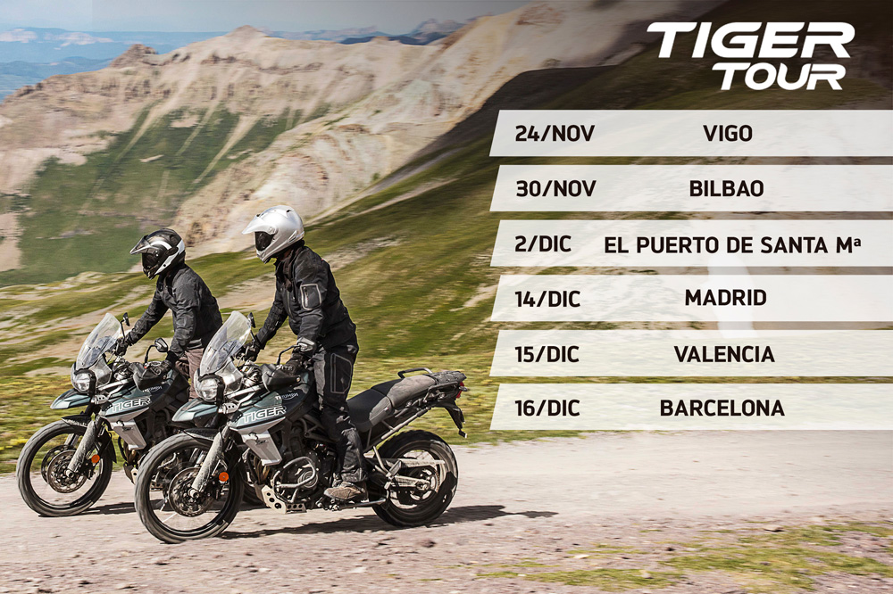 Calendario Triumph Tiger Tour