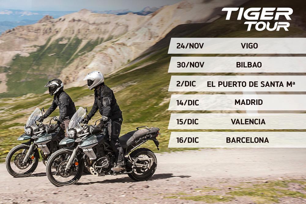 Calendario Triumph Tiger Tour