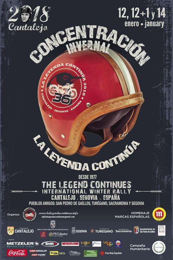 Cartel Concentración La Leyenda Continúa 2018