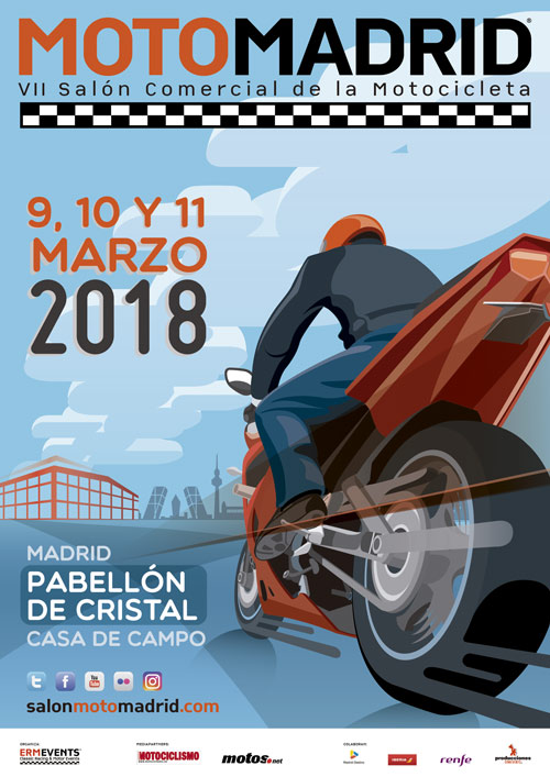 Cartel Salon MotoMadrid 2018