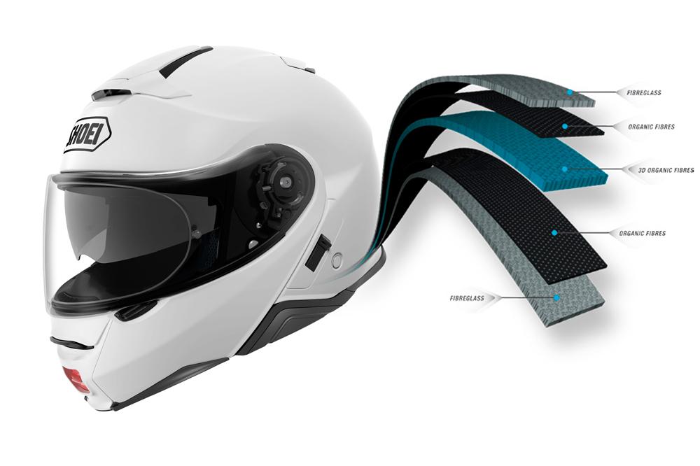 Composicion interior del casco Shoei NEOTEC II
