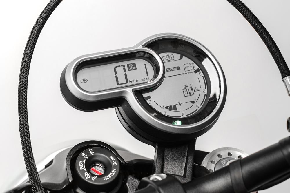 Ducati Scrambler 1100, cuadro de instrumentos