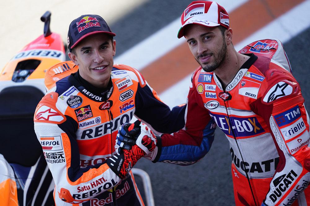Marquez y Dovizioso, protagonistas de la temporada MotoGP 2017