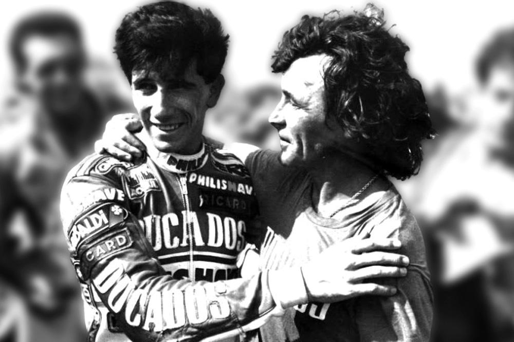 Angel Nieto y Jorge Martínez Aspar
