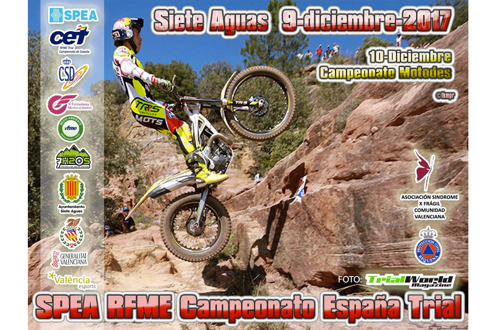 Cartel RFME Campeonato de España de Trial en Siete Aguas
