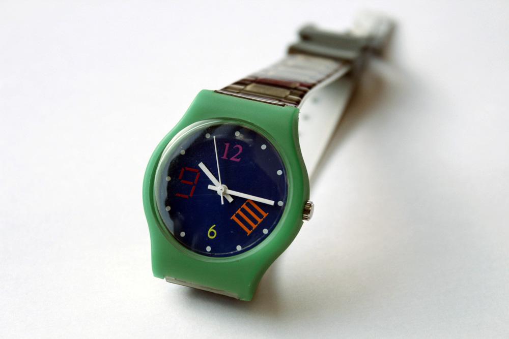 Reloj Unión Suiza diseño David Bestué
