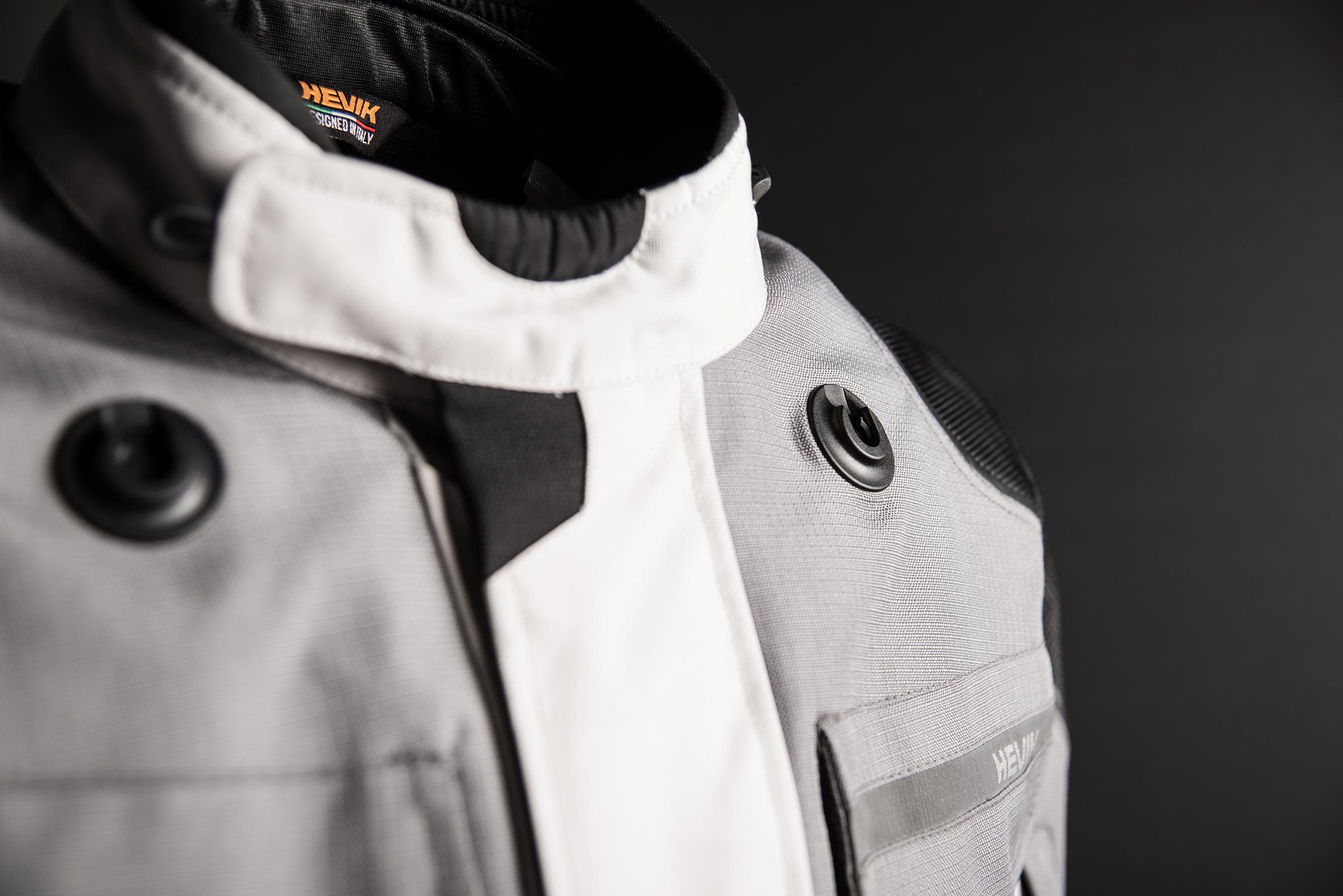 Chaqueta para moto Titanium de Hevik blanco-gris-negro