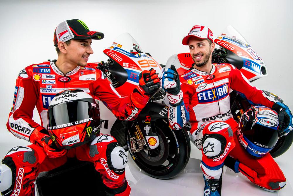 Jorge Lorenzo y Andrea Dovizioso, pilotos Ducati