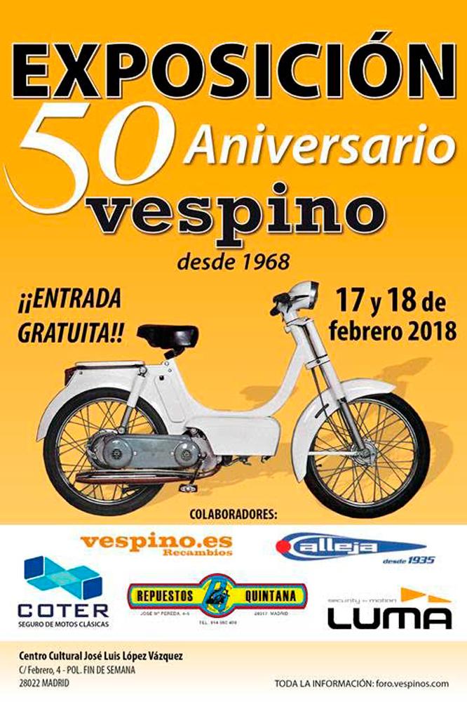 Cartel Exposición 50 años del Vespino