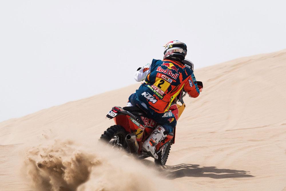 Mattias Walkner fue segundo en la quinta etapa del Rally Dakar 2018