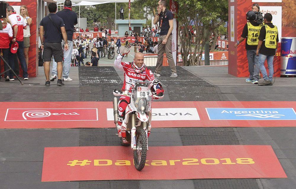 Jonathan Barragán tras la primera mitad del Dakar 2018