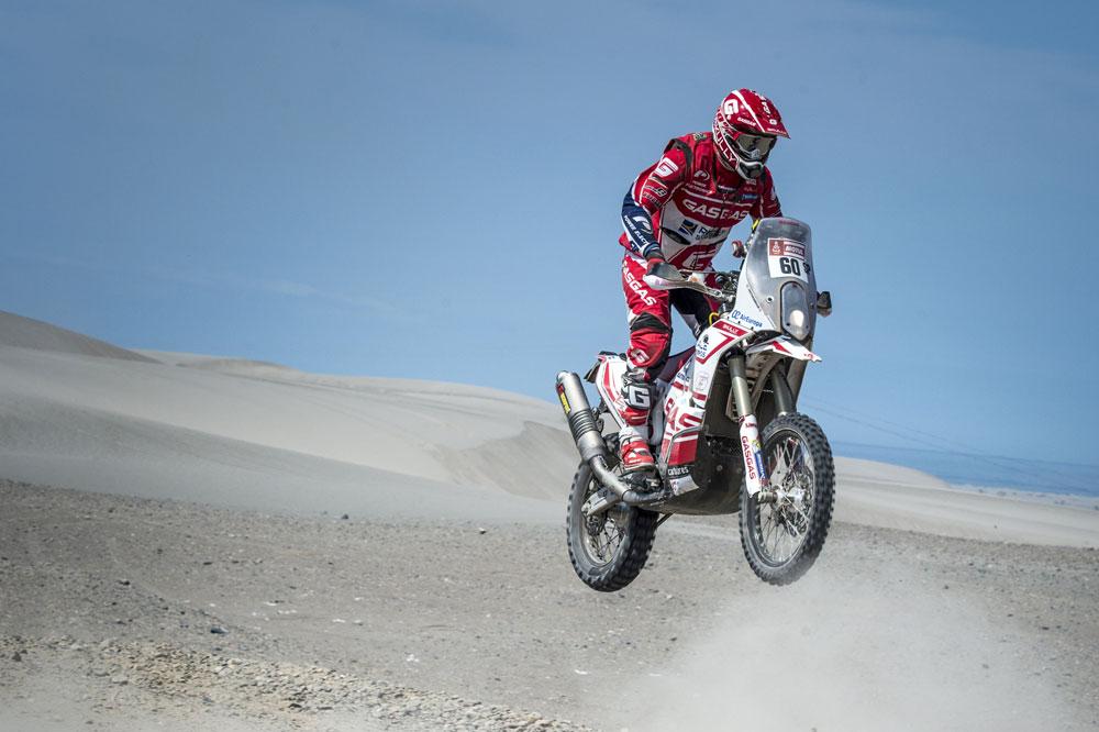 Jonathan Barragán ha demostrado que su experiencia en Motocross es muy válida para una prueba com el Dakar