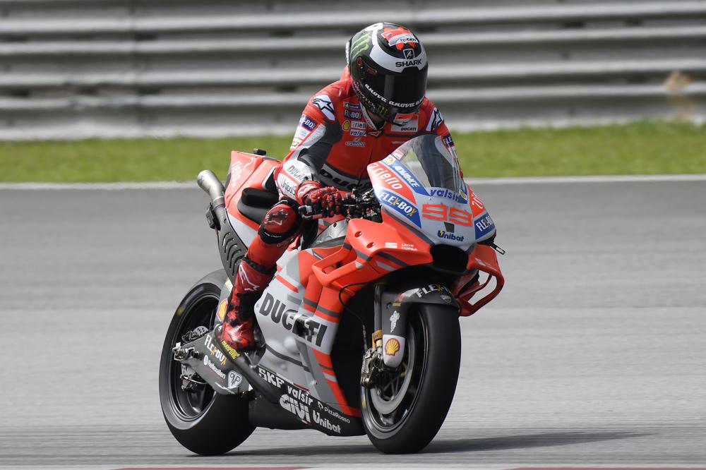Jorge Lorenzo logró el tercer mejor tiempo en el primer día de entrenamientos en Malasia