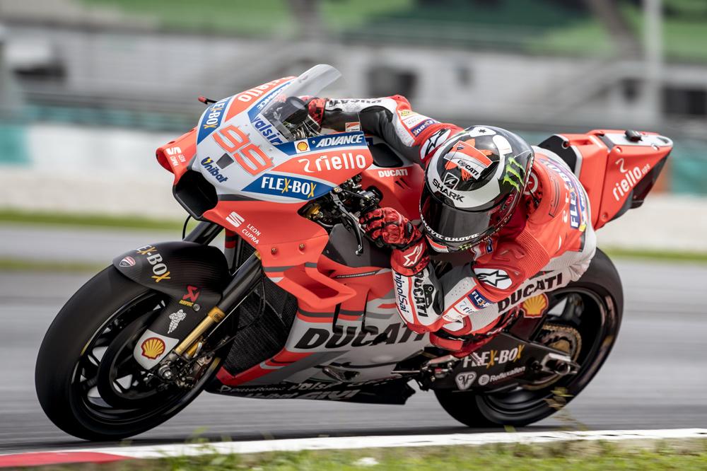 Jorge Lorenzo sigue muy entusiasmado con la evolución de su Ducati