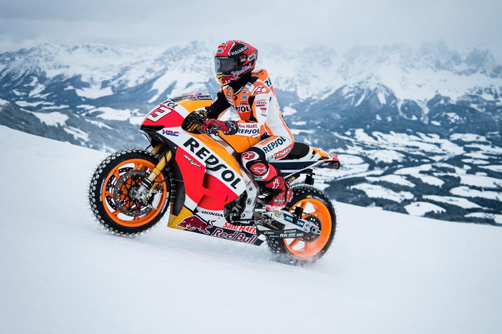 Marc Márquez subió el Hahnenkamm con su MotoGP