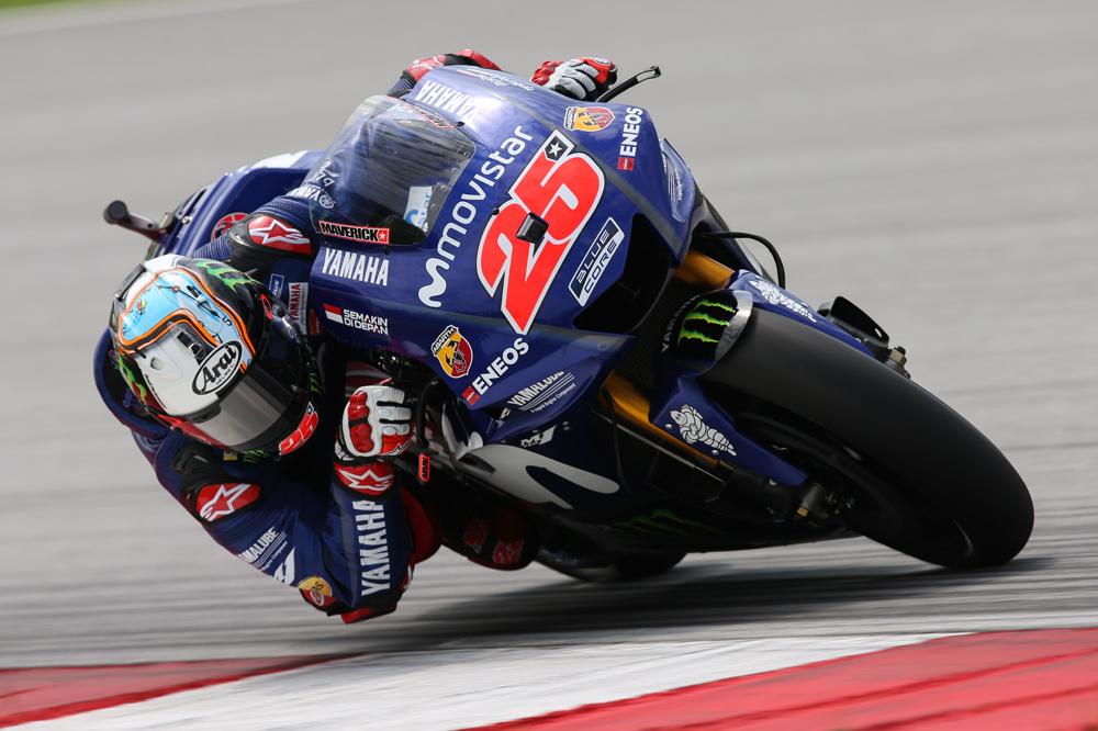 Maverick Viñales obtuvo el mejor tiempo en el segundo día de entrenamientos MotoGP en Malasia