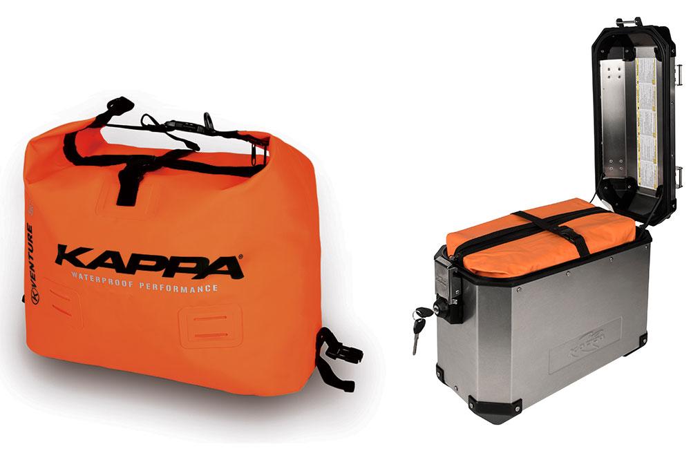 Bolsa TK768 y maleta KVE37 de Kappa