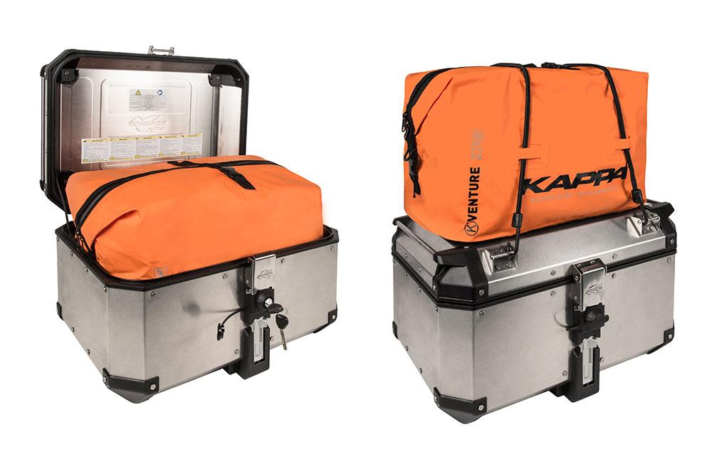 Bolsa TK767 y maleta KVE58 de Kappa