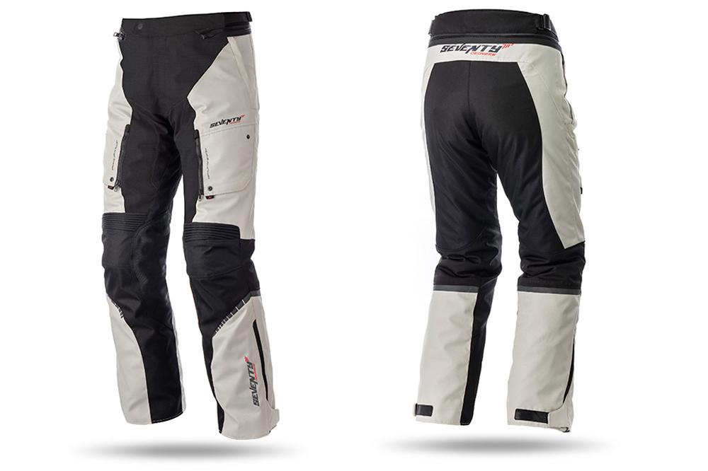 Pantalon touring SD-PT1 de Seventy Degrees en gris y negro
