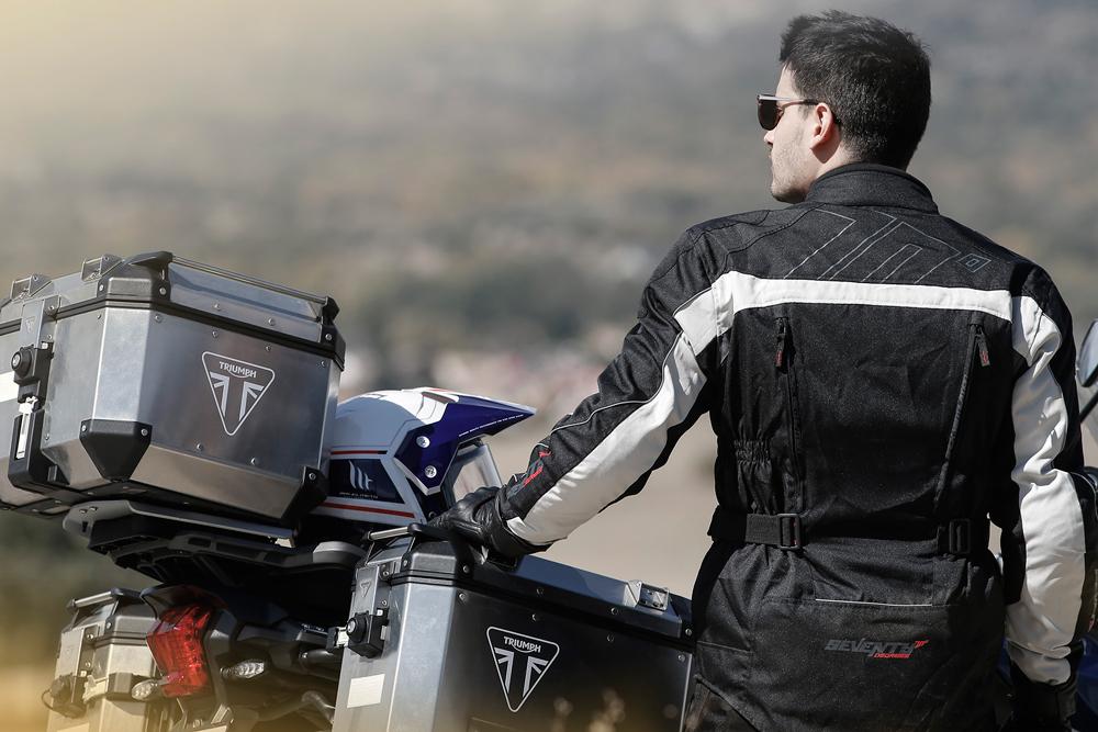 Chaqueta moto SD-JT41 de Seventy Degrees negro y gris