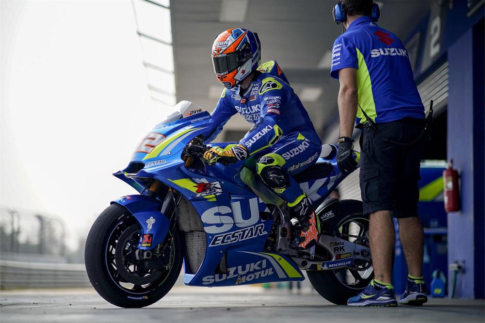 Alex Rins estuvo en los puestos de cabeza durante los entrenamientos MotoGP en Tailandia