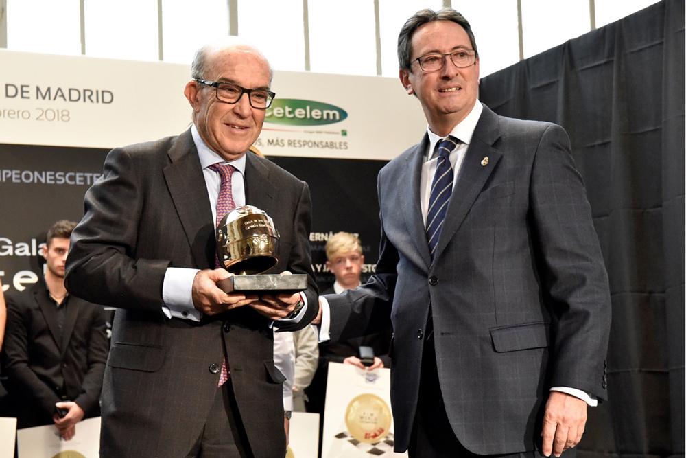 Carmelo Ezpeleta, casco de oro RFME 2018
