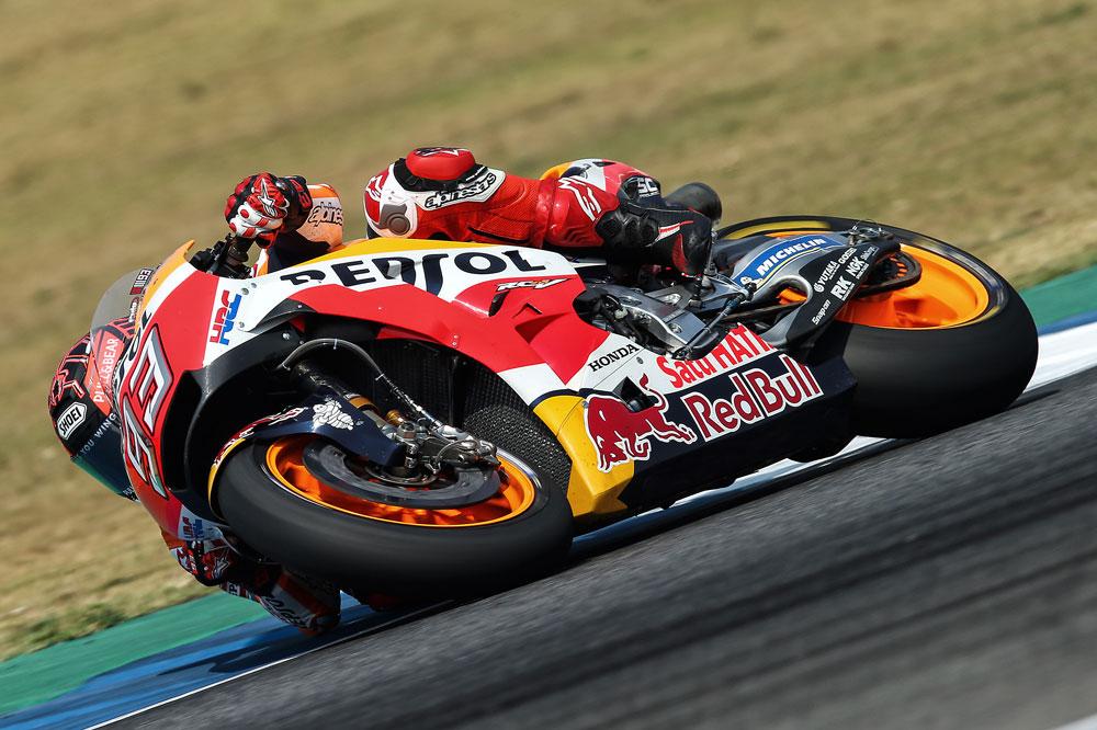 Buen trabajo de las Honda en Malasia, Márquez fue tercero