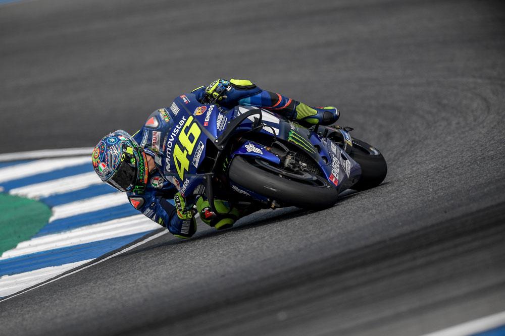 Valentino Rossi no logró buenos resultados en Tailandia