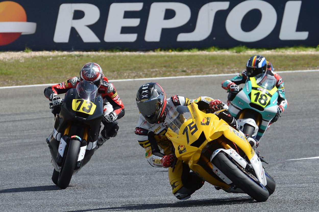 Victoria de Ivo Lopes en una de las carreras de Moto2