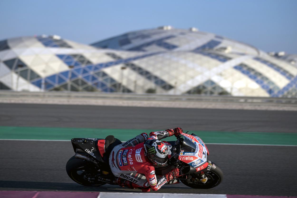 Jorge Lorenzo, entrenamientos MotoGP en Qatar