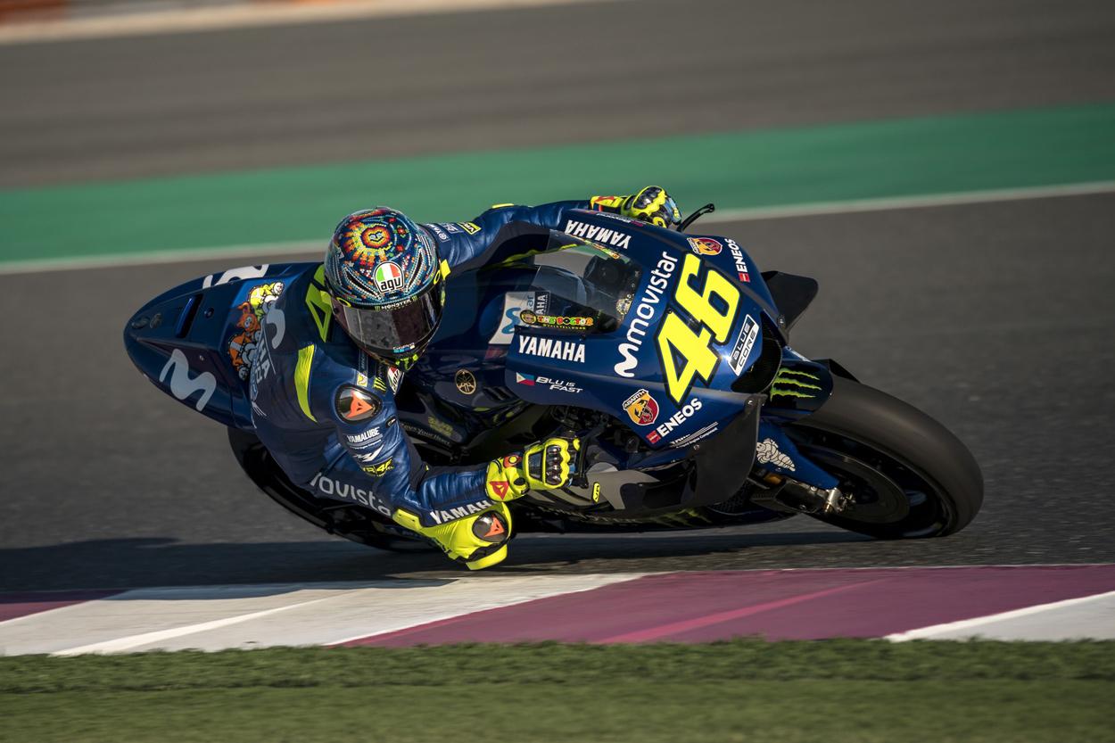 Valentino Rossi fue segundo en los entrenamientos MotoGP en Qatar