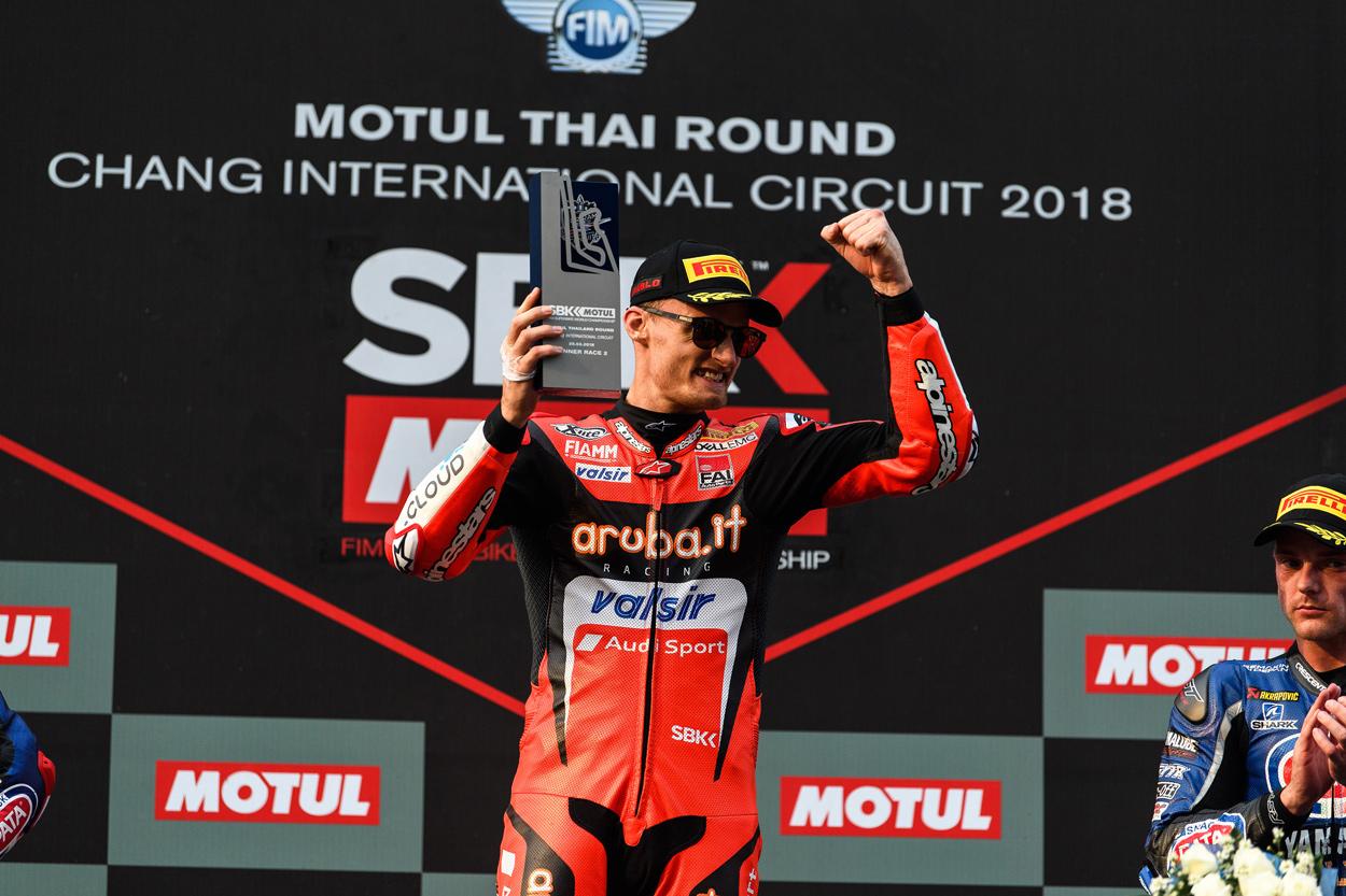 Primer podio de la temporada SBK para Chaz Davies