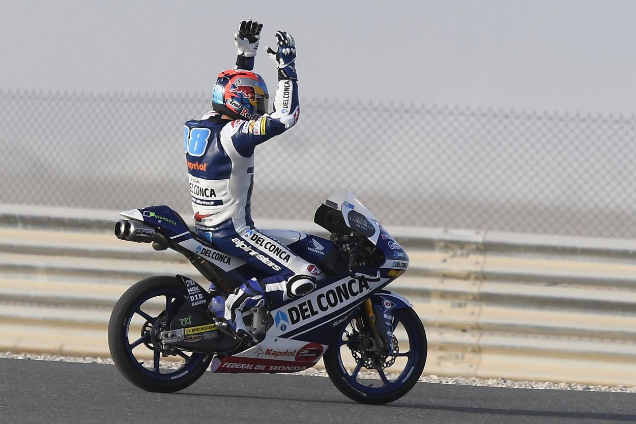 Victoria de Jorge Martin en el GP de Qatar 2018 Moto3