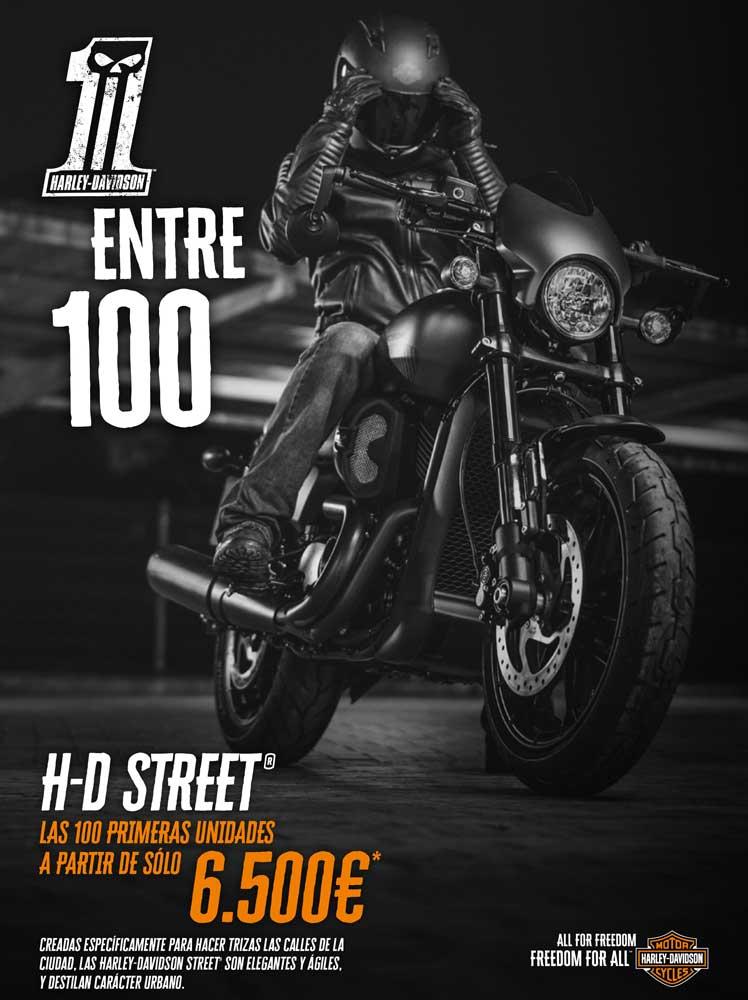 Campaña Harley Davidson Street 1 entre 100