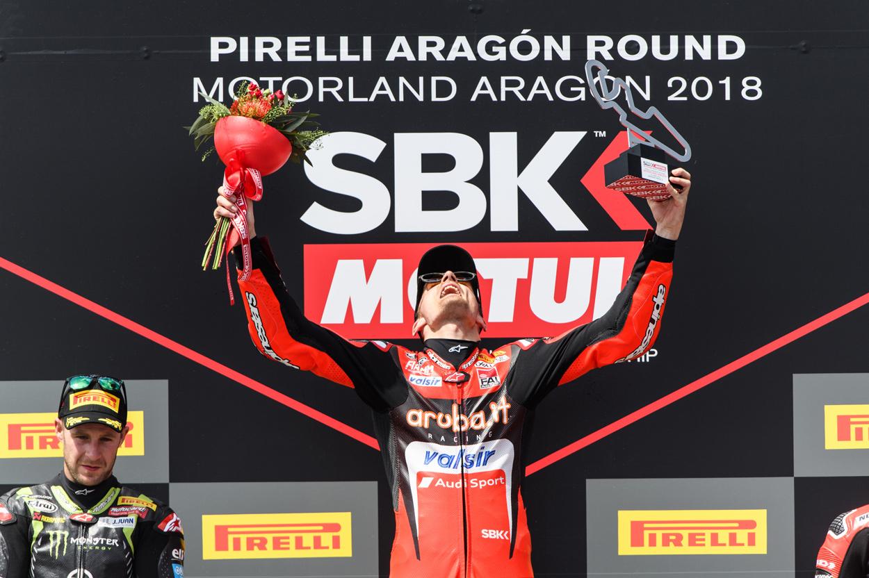 Chaz Davies logra su séptima victoria en Motorland Aragon