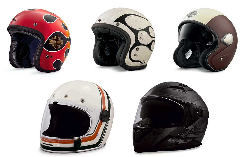 Cascos jet e integrales Harley-Davidson