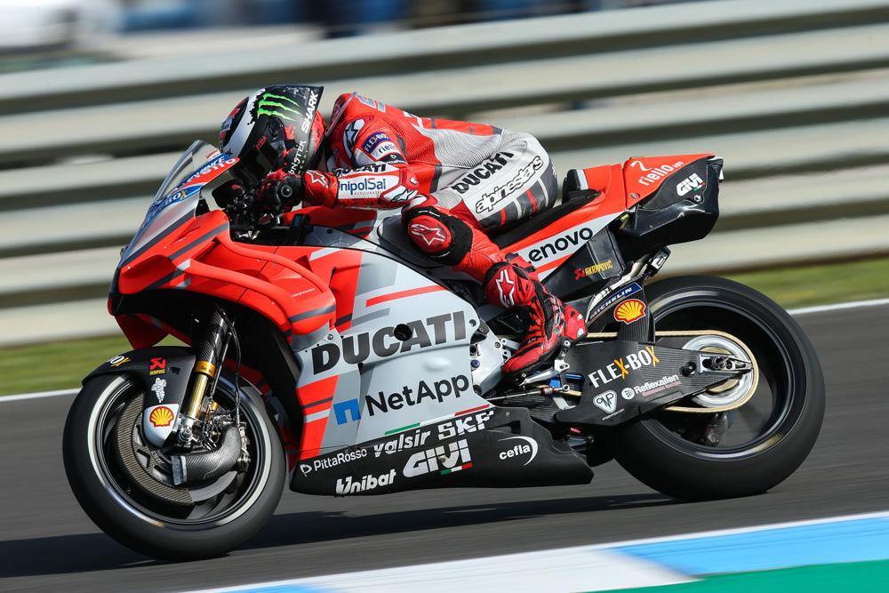 Jorge Lorenzo logró el cuarto mejor puesto en los entrenamientos del GP de España de MotoGP