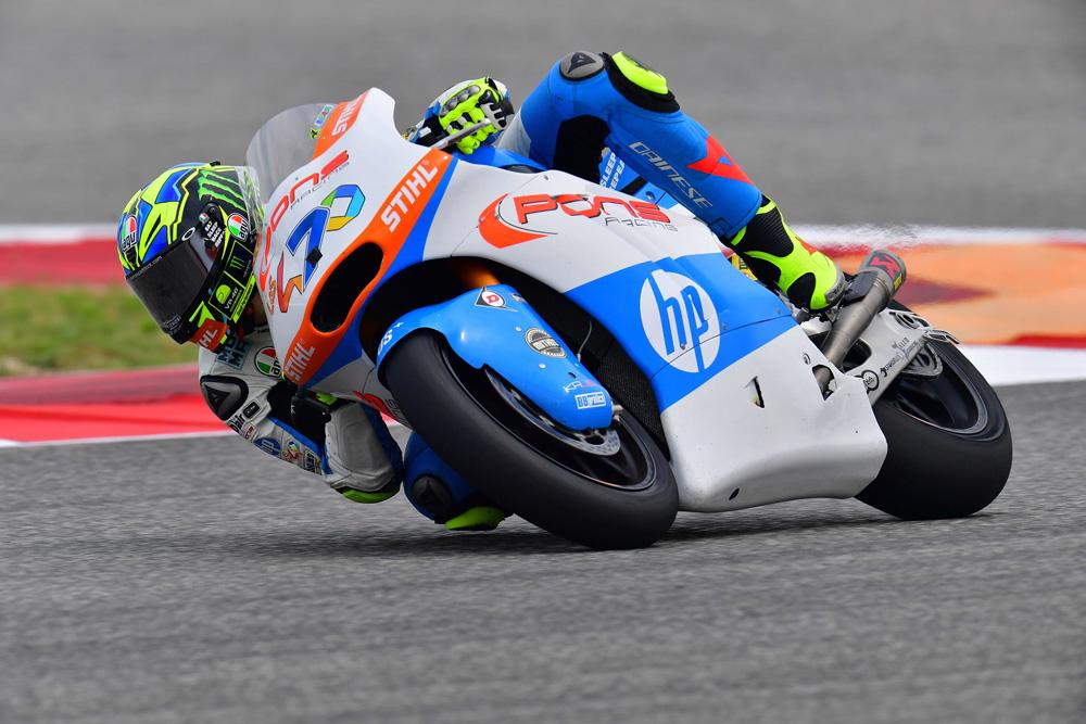 Lorenzo Baldasarri pole y victoria en el GP de España en Moto2