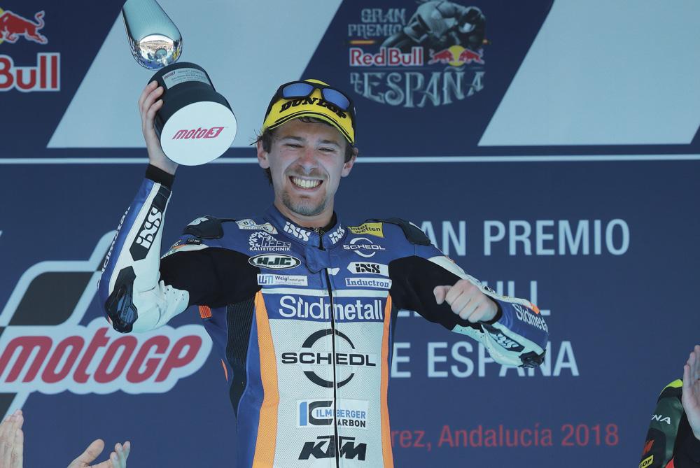 Victoria de Philipp Oettl en Moto3 en el GP de España