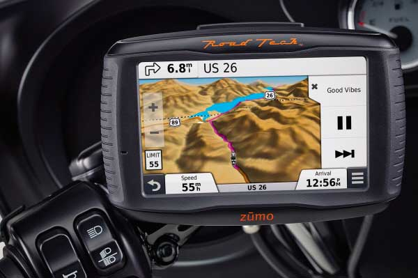 Navegador GPS Zumo 590 Road Tech de Harley Davidson